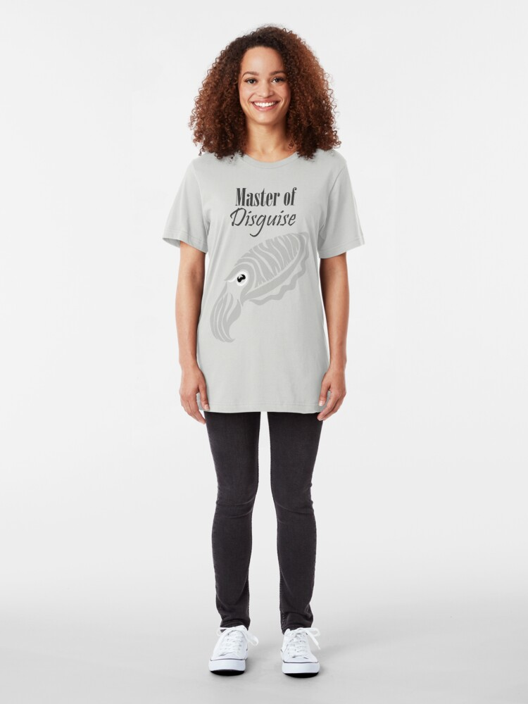 Alternate view of Master of Disguise - Tribalish Cuttlefish (for light-colored items) Slim Fit T-Shirt