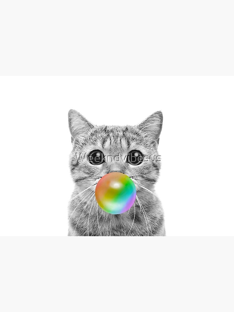 Rainbow Bubble Cat by Weekndvibesus
