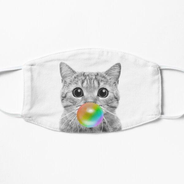Rainbow Bubble Cat Flat Mask