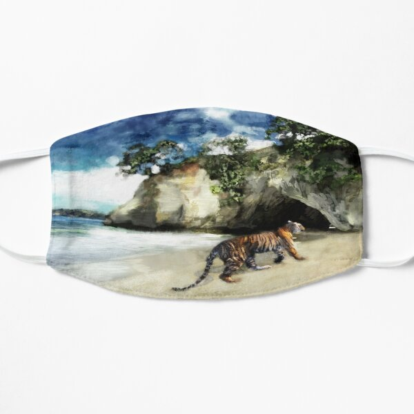 Tiger On The Beach Flat Mask