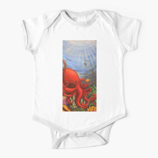 Octopus Garden Short Sleeve Baby One-Piece
