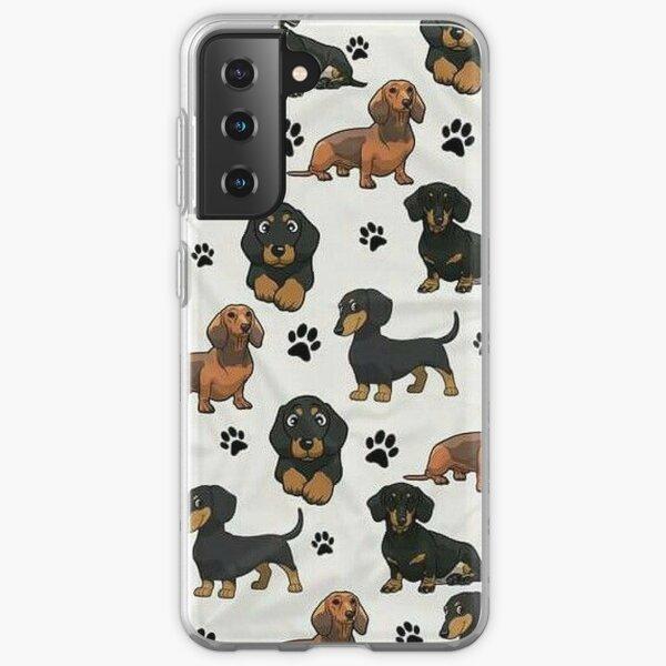 Dachshund Dog cartoons cute Samsung Galaxy Soft Case