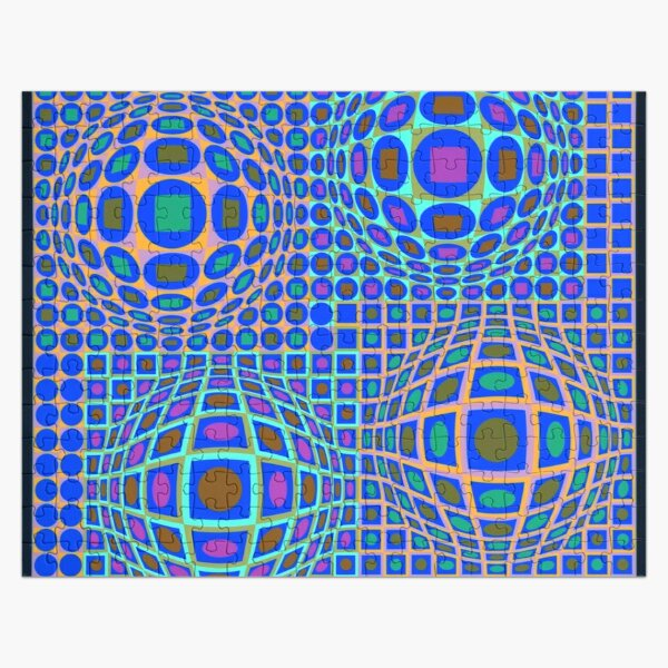 Op Art. Victor #Vasarely, was a Hungarian-French #artist, who is widely accepted as a #grandfather and leader of the #OpArt movement Jigsaw Puzzle