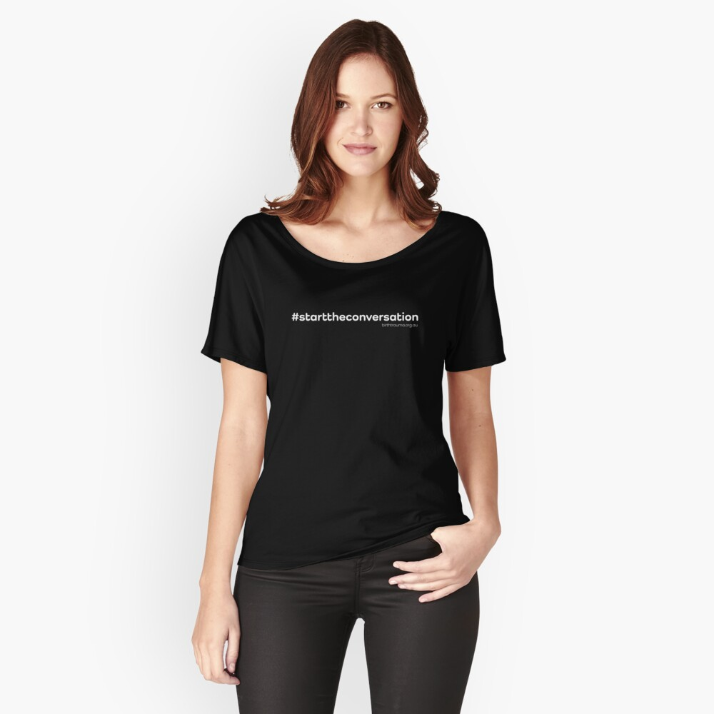 The ABTA - Start the Conversation - White Relaxed Fit T-Shirt