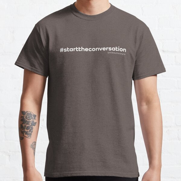 The ABTA - Start the Conversation - White Classic T-Shirt