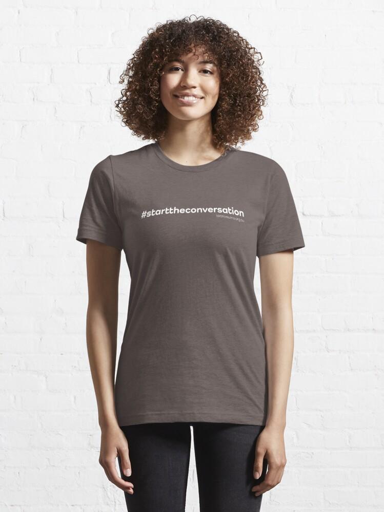 Alternate view of The ABTA - Start the Conversation - White Essential T-Shirt