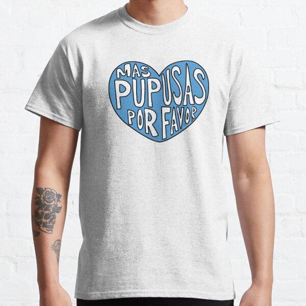 Mas Pupusas Por Favor - Blue Heart Classic T-Shirt