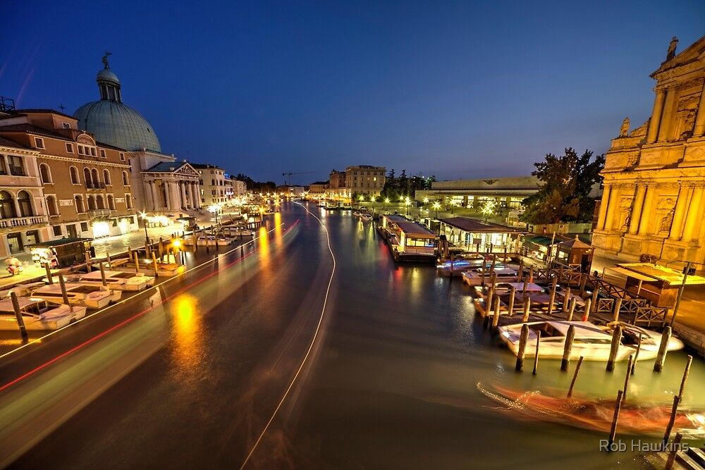 Nightime on the Grand Canal  by Rob Hawkins