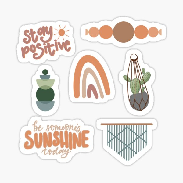 Pack d'autocollants Boho! Sticker