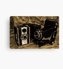 Old Cameras 2 Canvas Print