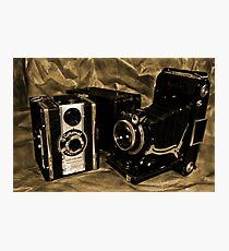 Old Cameras 2 Photographic Print
