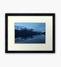 November morning twilight. Luster, west coast of Norway. Framed Print