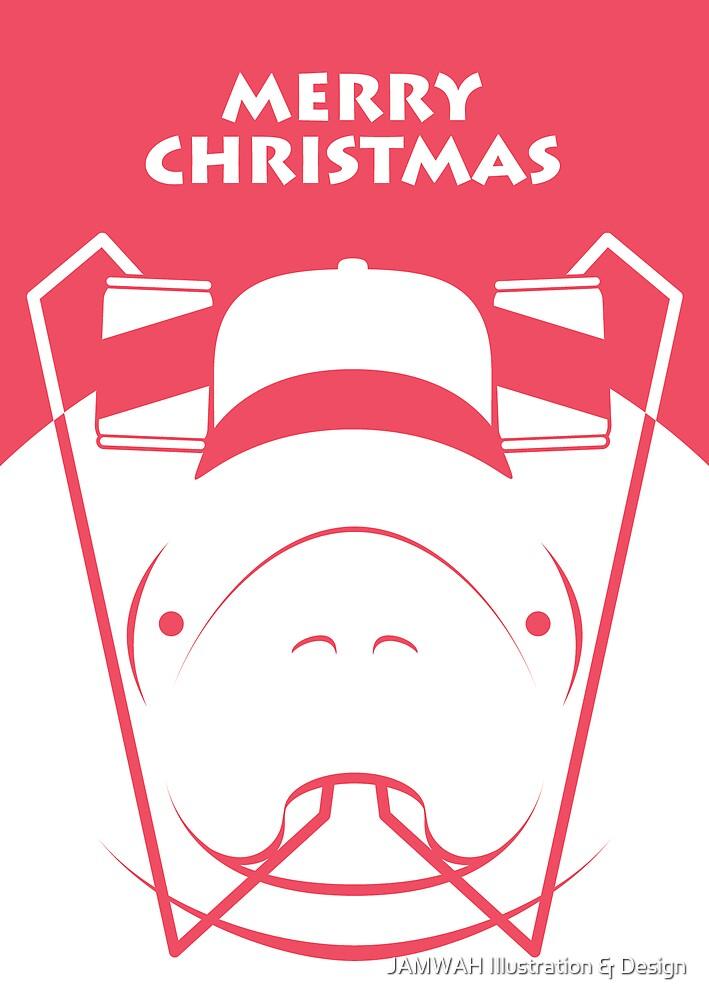 Manatee Christmas by JAMWAH Illustration & Design