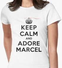 Keep Calm and Adore Marcel (LS) Womens Fitted T-Shirt