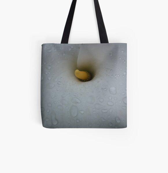 White Calla Lily All Over Print Tote Bag