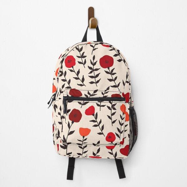 Poppy Flower Pattern Backpack