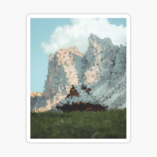 House in the Mountains Sticker