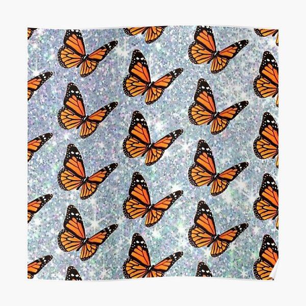 Glitter Monarch Butterfly Poster