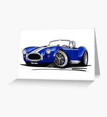 AC / Shelby Cobra Blue (White Stripes) Greeting Card