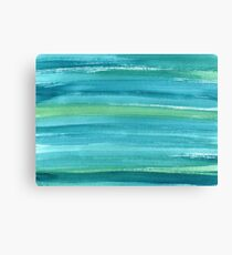 Marine watercolor texture Canvas Print