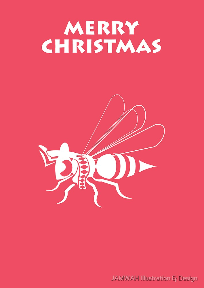 Wasp Christmas by JAMWAH Illustration & Design