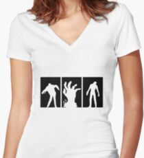 Zombies Dead Women's Fitted V-Neck T-Shirt