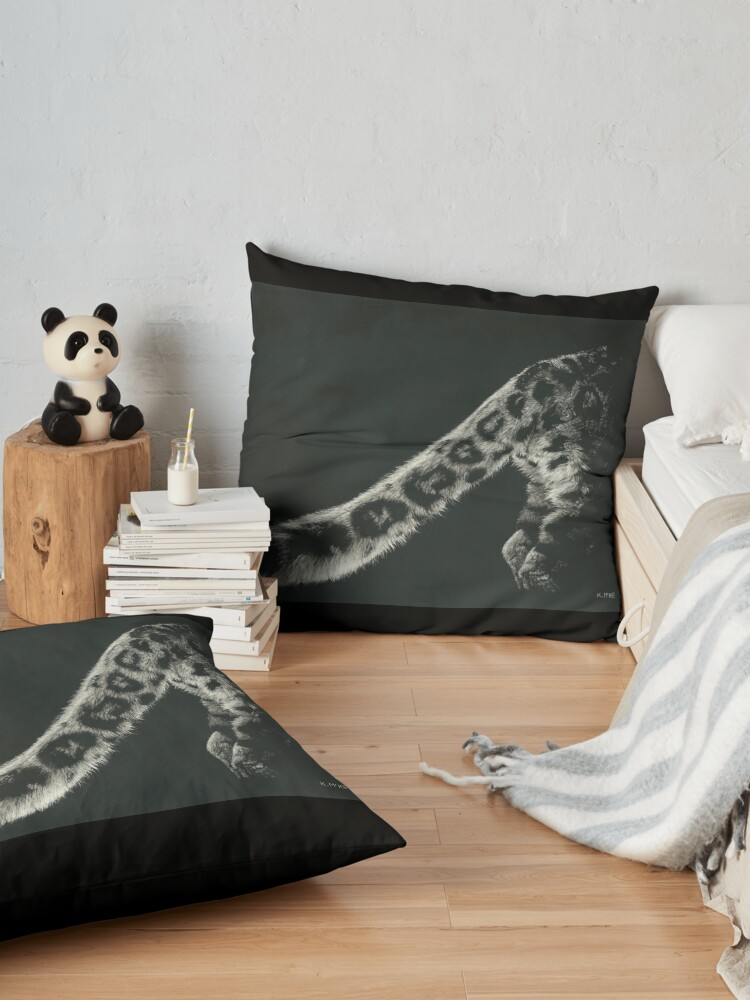 Alternate view of Snow Leopard Tail Floor Pillow