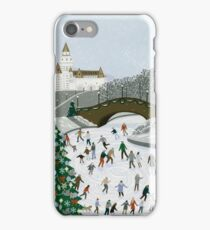 Ice skating pond iPhone Case/Skin