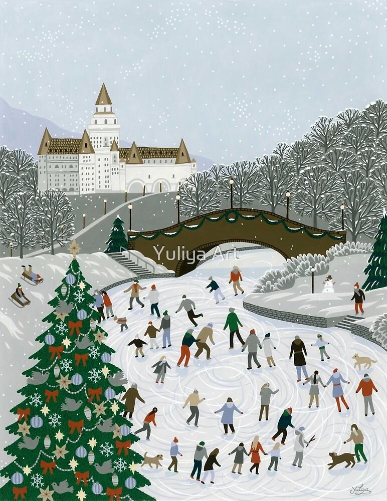 Ice skating pond by Yuliya Art