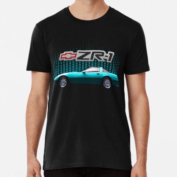 Chevy Corvette C4 ZR-1 80's 90's Aqua Teal T-shirt premium