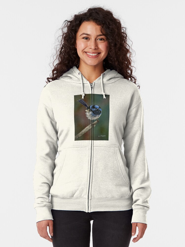 Alternate view of Pretty In Blue Zipped Hoodie