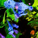 Virginia Bluebell - 3 Abstract Impressionism by pjwuebker