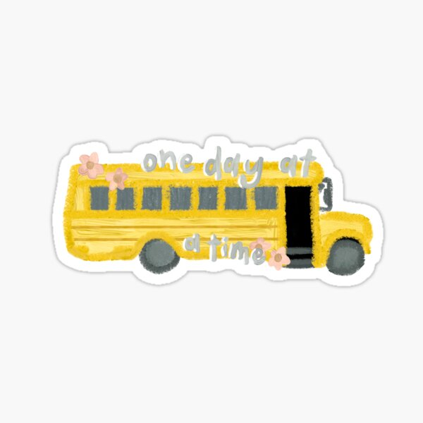 Ateez un jour à la fois Schoolbus Sticker
