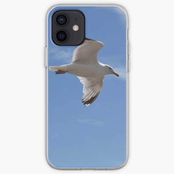 Seagull over Brighton Beach iPhone Soft Case