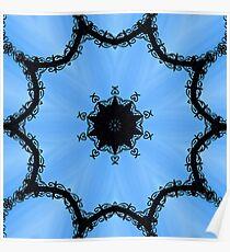 Ornamental metal arch kaleidoscope Poster