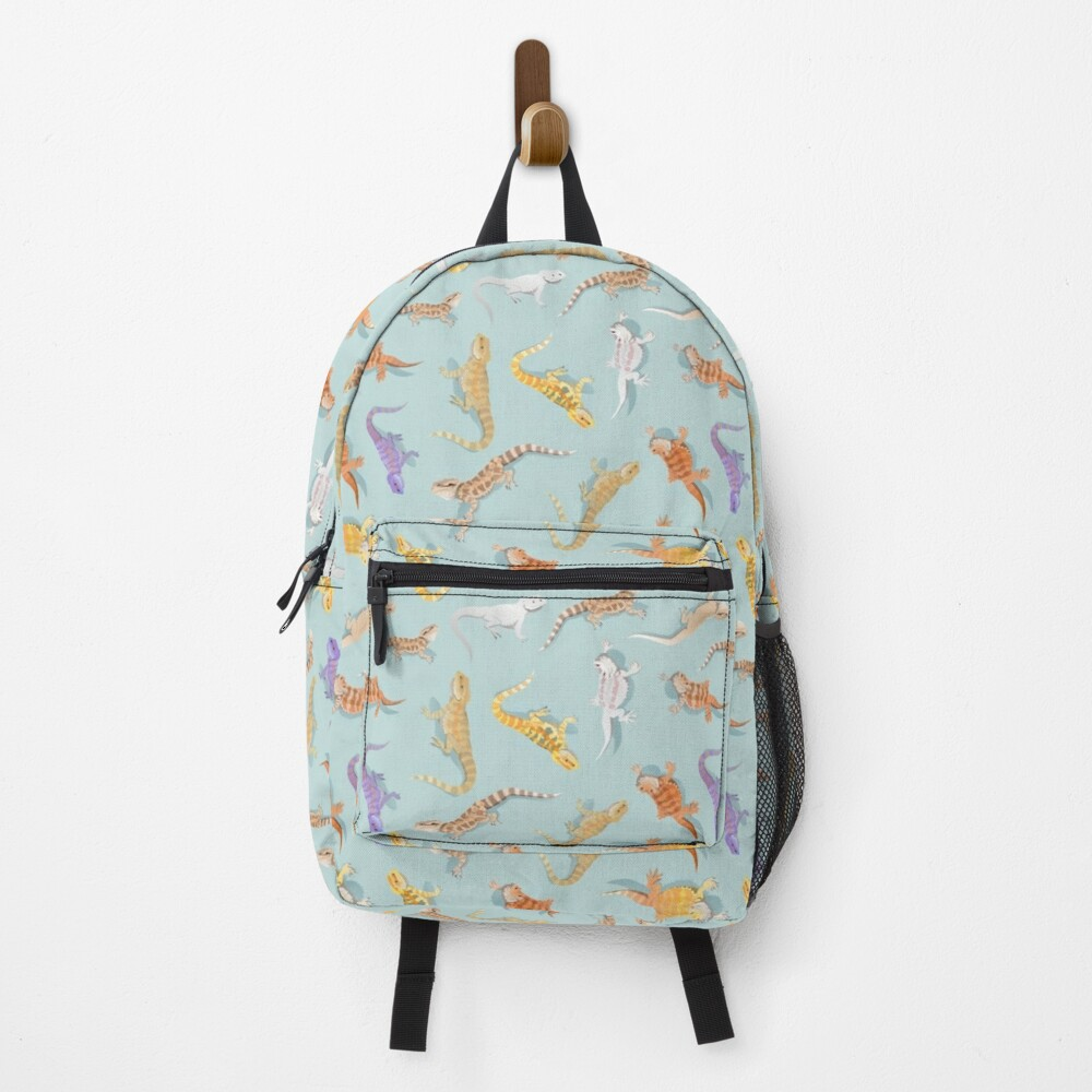 Bearded Dragon Blue Scatter Pattern Backpack
