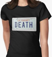 Government Plates by Death Grips Women's Fitted T-Shirt