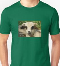 Ewe Portrait With Thinking of You Greeting Unisex T-Shirt