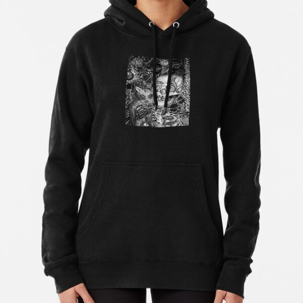 Copy of skeleton and cat Pullover Hoodie
