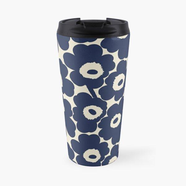 Marimekko, The dark blue Unikko (poppy) pattern Travel Mug