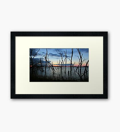Twisted Twilight Framed Print