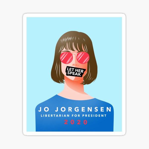 Jo Jorgensen Let Her Speak  Sticker