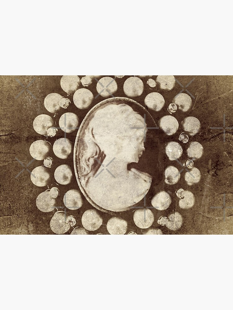Ghostly Lady - Spooky Cameo Brooch by OneDayArt