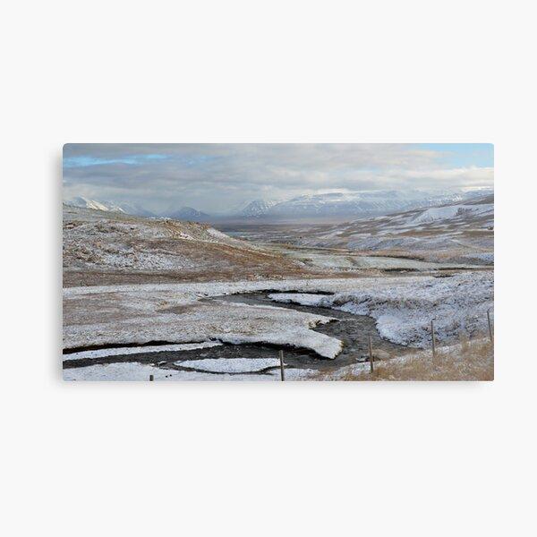 Alpine View, West Iceland Metal Print