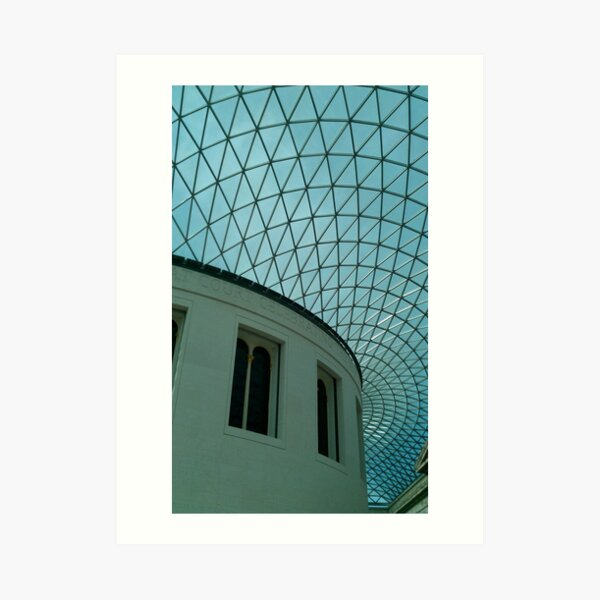 British Museum, Glass Roof Art Print