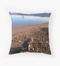 Exploring around Lake Eucumbene Throw Pillow