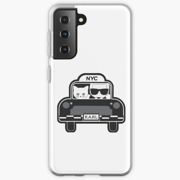 Karl Lagerfeld and Choupette car - édition 2020 Coque souple Samsung Galaxy