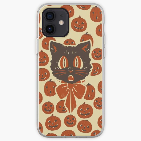Vintage Inspired Halloween Scaredy Cat iPhone Soft Case