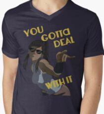 LoK - Korra Deal With It Mens V-Neck T-Shirt