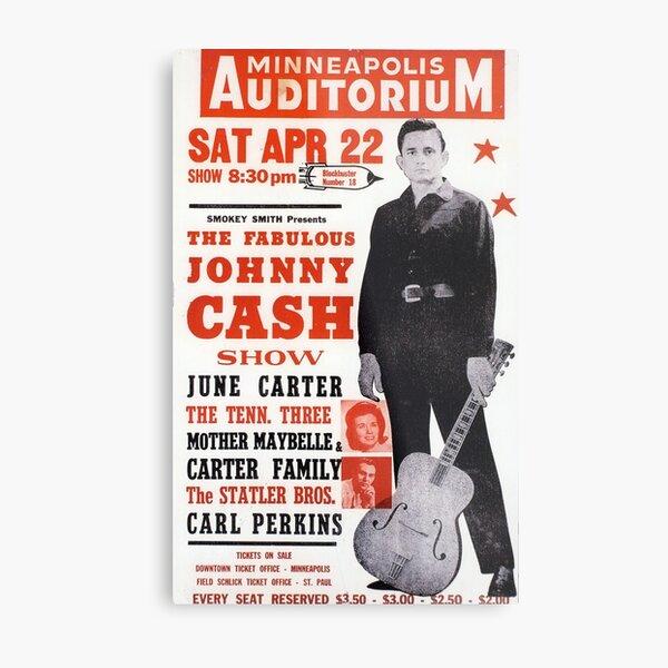 Johnny Cash - vintage concert country music poster Metal Print